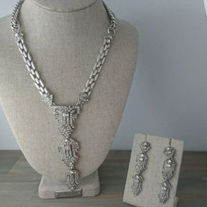 Modern style necklace and earrings
